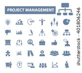 project management icons  | Shutterstock .eps vector #401806246