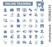 online training icons  | Shutterstock .eps vector #401806252