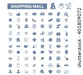 shopping mall icons  | Shutterstock .eps vector #401809072