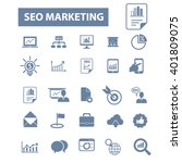 seo marketing icons  | Shutterstock .eps vector #401809075