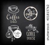 coffee menu restaurant badges ... | Shutterstock .eps vector #401815762