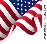 waving american flag vector ... | Shutterstock .eps vector #401821195