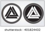 valknut. ancient norse symbol.... | Shutterstock .eps vector #401824432