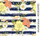 floral seamless pattern on... | Shutterstock .eps vector #401826982