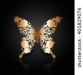 Copper Abstract Butterfly With...