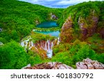 waterfalls in plitvice national ... | Shutterstock . vector #401830792