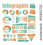 big set of flat vector... | Shutterstock .eps vector #401831722