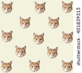 cat pattern. low poly cat... | Shutterstock .eps vector #401839315
