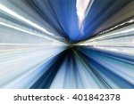 subway tunnel with motion blur... | Shutterstock . vector #401842378