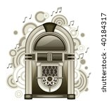jukebox | Shutterstock .eps vector #40184317