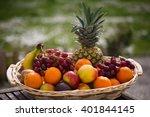 fruits in a basket | Shutterstock . vector #401844145