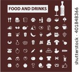 food and drinks icons  | Shutterstock .eps vector #401848366