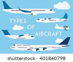 types of aircraft. vector... | Shutterstock .eps vector #401860798