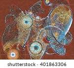this dynamic digital fantasy is ... | Shutterstock . vector #401863306