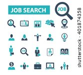 job search icons  | Shutterstock .eps vector #401874358