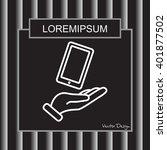 web line icon. smartphone in... | Shutterstock .eps vector #401877502