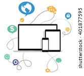 ultimate web design electronic...   Shutterstock .eps vector #401877595