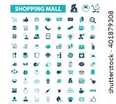 shopping mall icons  | Shutterstock .eps vector #401879308