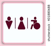 wc icon | Shutterstock .eps vector #401880688