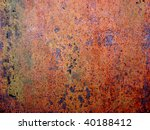 orange aged rusty wall  texture | Shutterstock . vector #40188412
