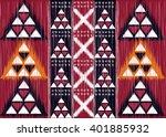 geometric ethnic oriental ikat... | Shutterstock .eps vector #401885932