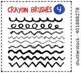 crayon brushes set. hand...   Shutterstock .eps vector #401888278