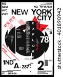 nyc   new york district   stock ... | Shutterstock .eps vector #401890942