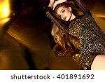beautiful brown hair girl....   Shutterstock . vector #401891692