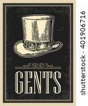 toilet retro vintage grunge... | Shutterstock .eps vector #401906716
