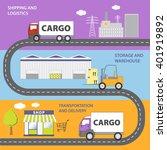 illustration of the logistics... | Shutterstock .eps vector #401919892