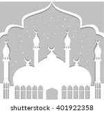 greeting card in arabic style....   Shutterstock .eps vector #401922358