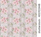 seamless vintage flower pattern  | Shutterstock .eps vector #401922448