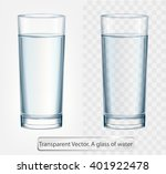 transparent vector glass of... | Shutterstock .eps vector #401922478