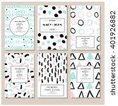 set of vintage creative cards.... | Shutterstock .eps vector #401926882