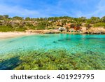 a view of beach with azure sea... | Shutterstock . vector #401929795