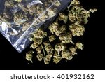 pile of medical cannabis dried... | Shutterstock . vector #401932162