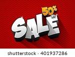 creative abstract sale design... | Shutterstock .eps vector #401937286