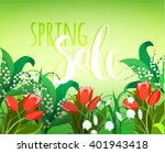 vector design for spring sales  ... | Shutterstock .eps vector #401943418