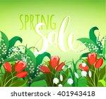 vector design for spring sales  ... | Shutterstock .eps vector #401943418