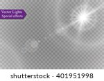 vector transparent sunlight... | Shutterstock .eps vector #401951998