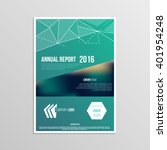 cover design for booklet annual ... | Shutterstock .eps vector #401954248