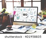 searching engine optimizing seo ... | Shutterstock . vector #401958835