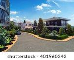 3d rendering   residential... | Shutterstock . vector #401960242