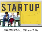 start up word design editorial... | Shutterstock . vector #401967646