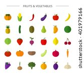 vector big collection of fruit... | Shutterstock .eps vector #401979166