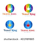 colorful abstract vector earth  ... | Shutterstock .eps vector #401989885