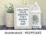 follow your dreams they know... | Shutterstock . vector #401991682