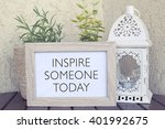 inspire someone today  ... | Shutterstock . vector #401992675