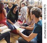 classmate classroom sharing...   Shutterstock . vector #401993875