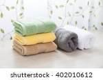 different colors of towel in... | Shutterstock . vector #402010612